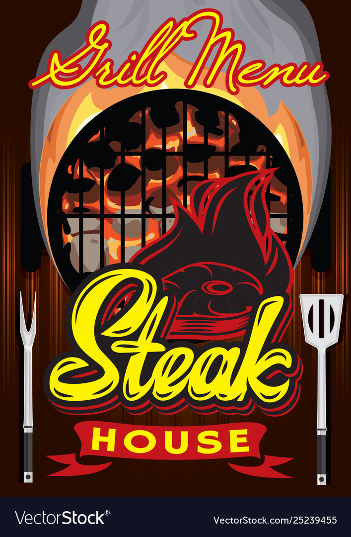Color menu template for steak house