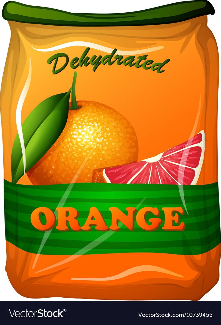 Dehydrated orange in bag vector image
