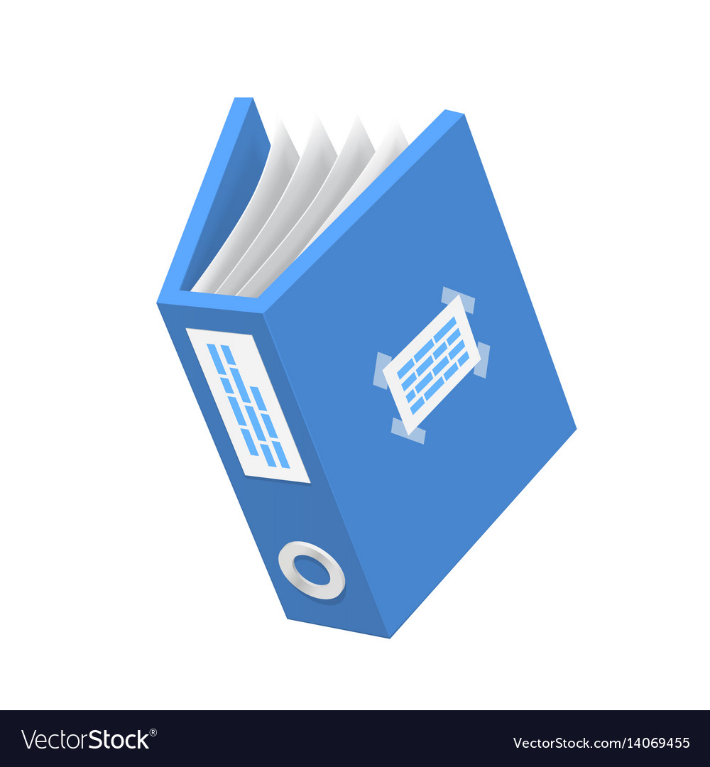 document 3d icon blue paper object royalty free vector image