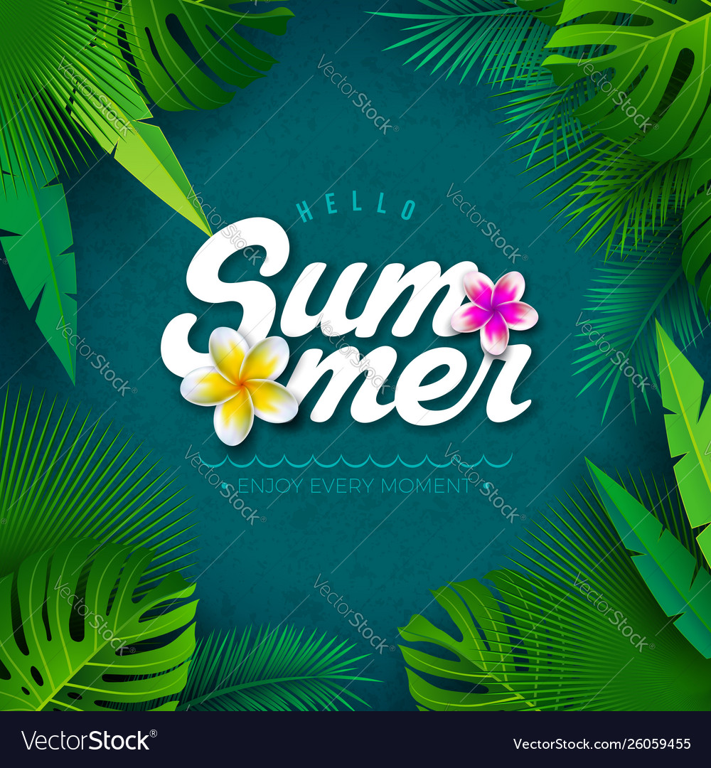 Hello summer with typography
