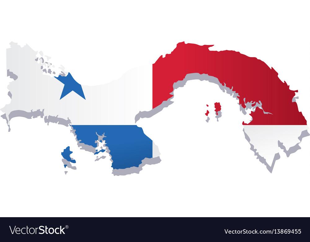 Panama flag amp map
