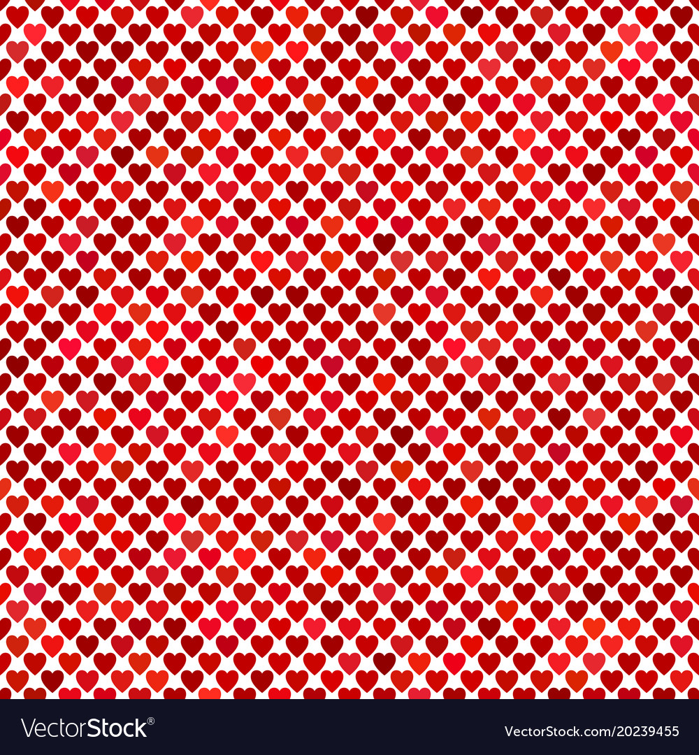 Repeating red heart background pattern design