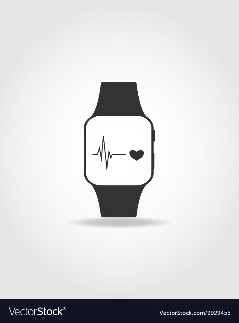 Sport smart watch vector image
