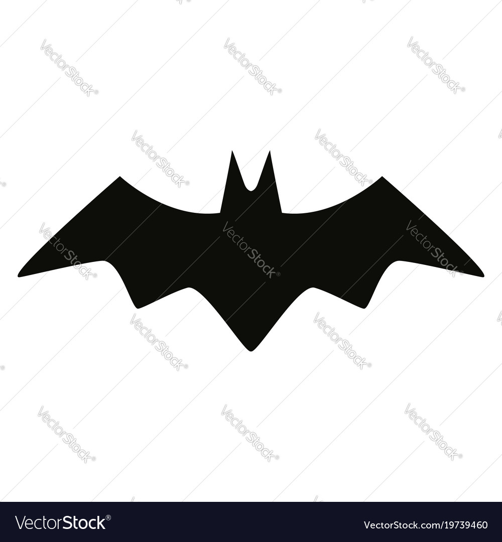 Bat black silhouette isolated icon