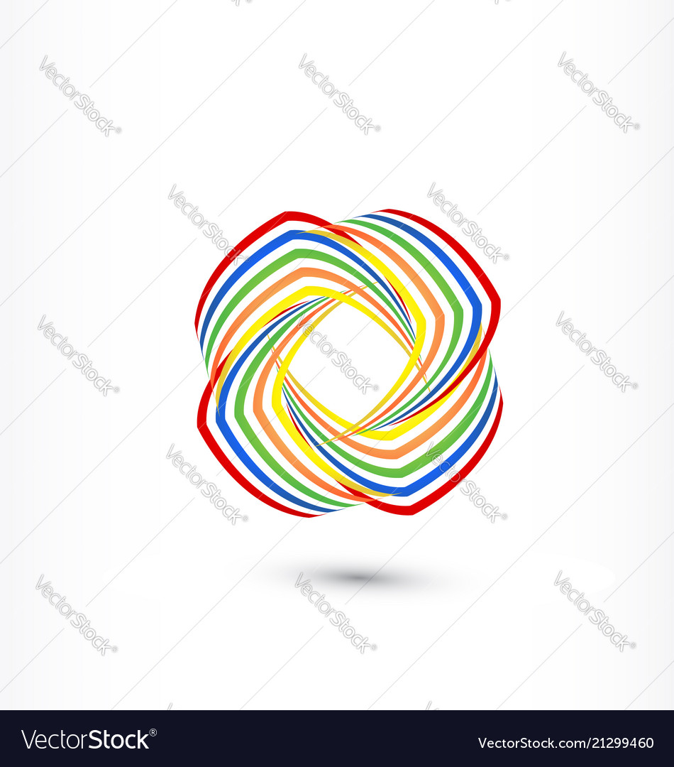 Colorful abstract swooshes symbol