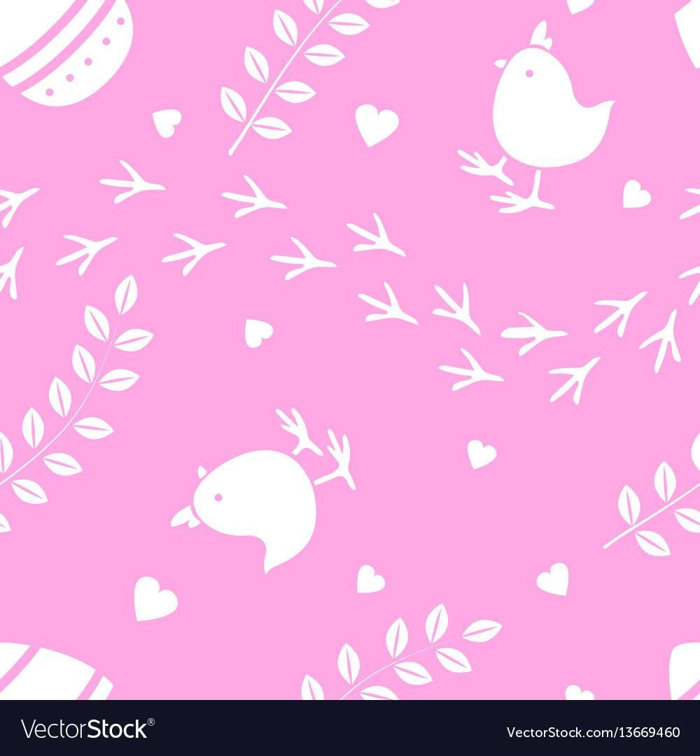 Easter pink seamless pattern retro vintage design