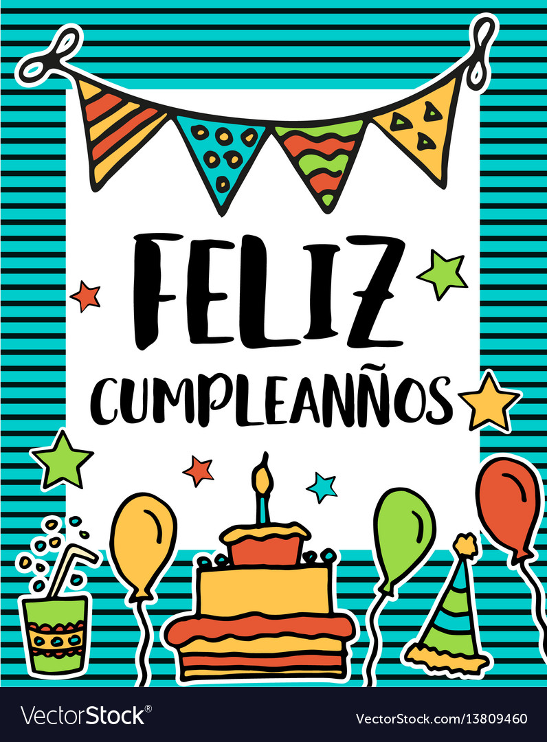 Happy Birthday In Spanish.Feliz Cumpleanos Happy Birthday In Spanish