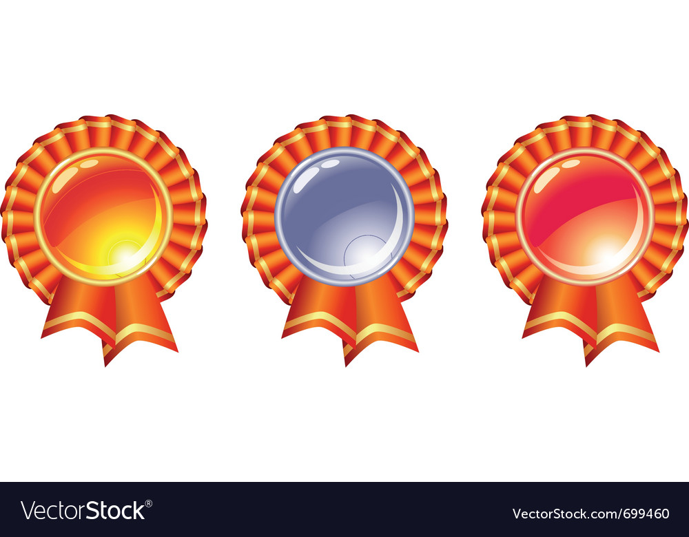 Gold silver and bronze vector image