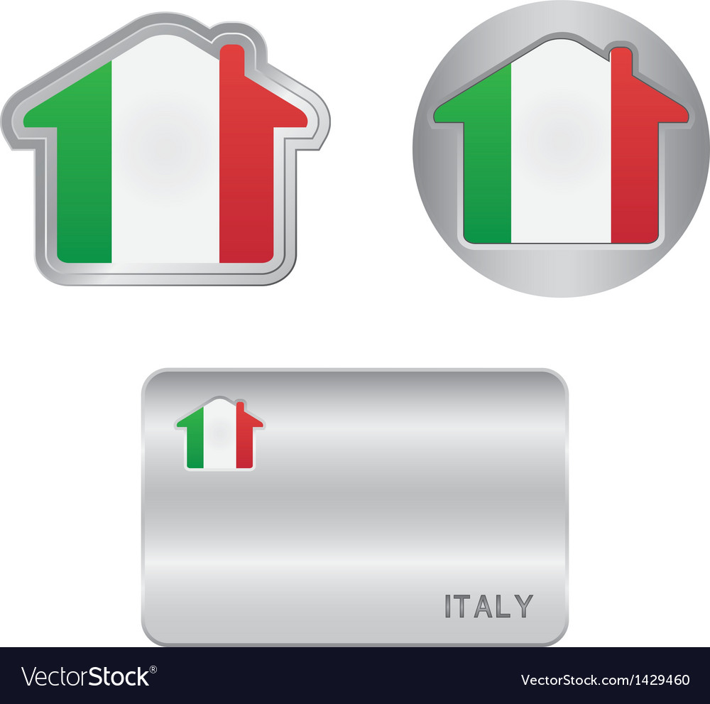Home icon on the Italy flag