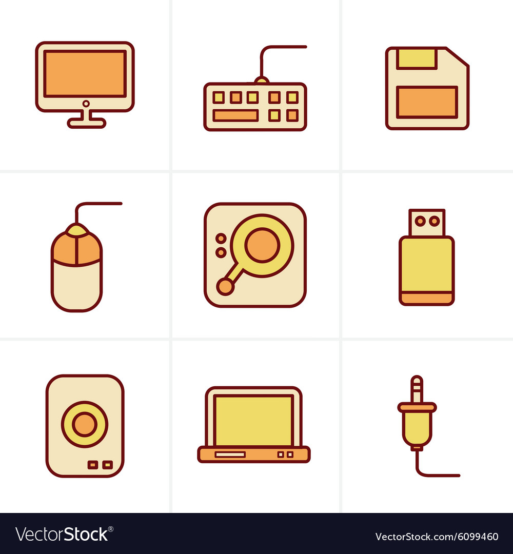 Icons Style Computer Icons Set Design