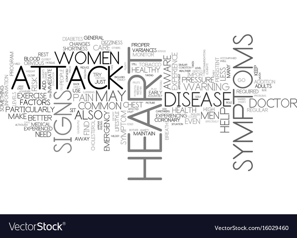 Is it a heart attack signs and symptoms text vector image