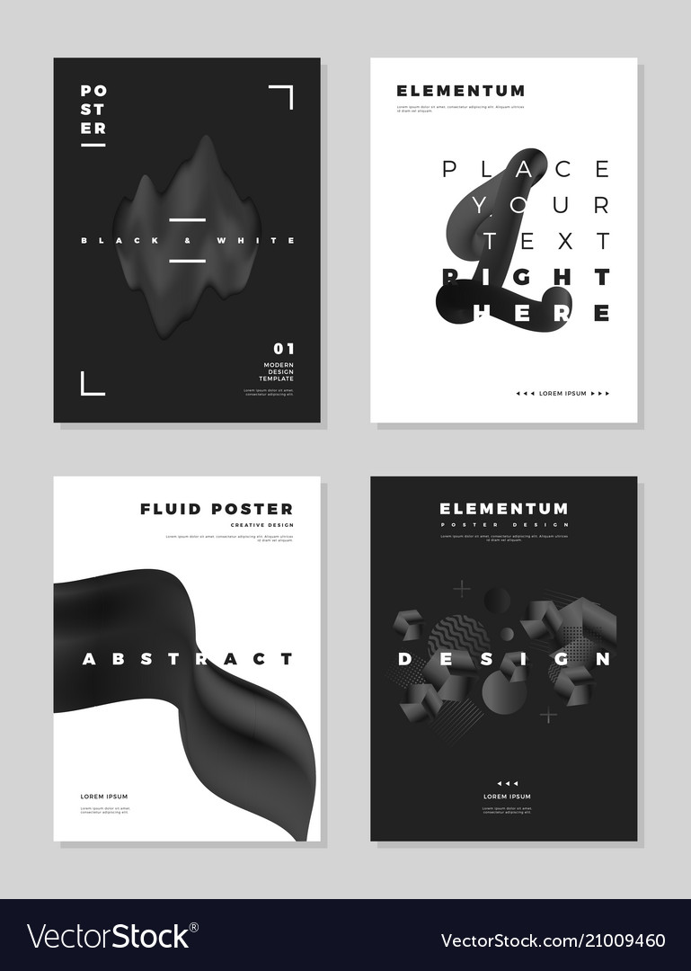 Modern abstract cover design templates