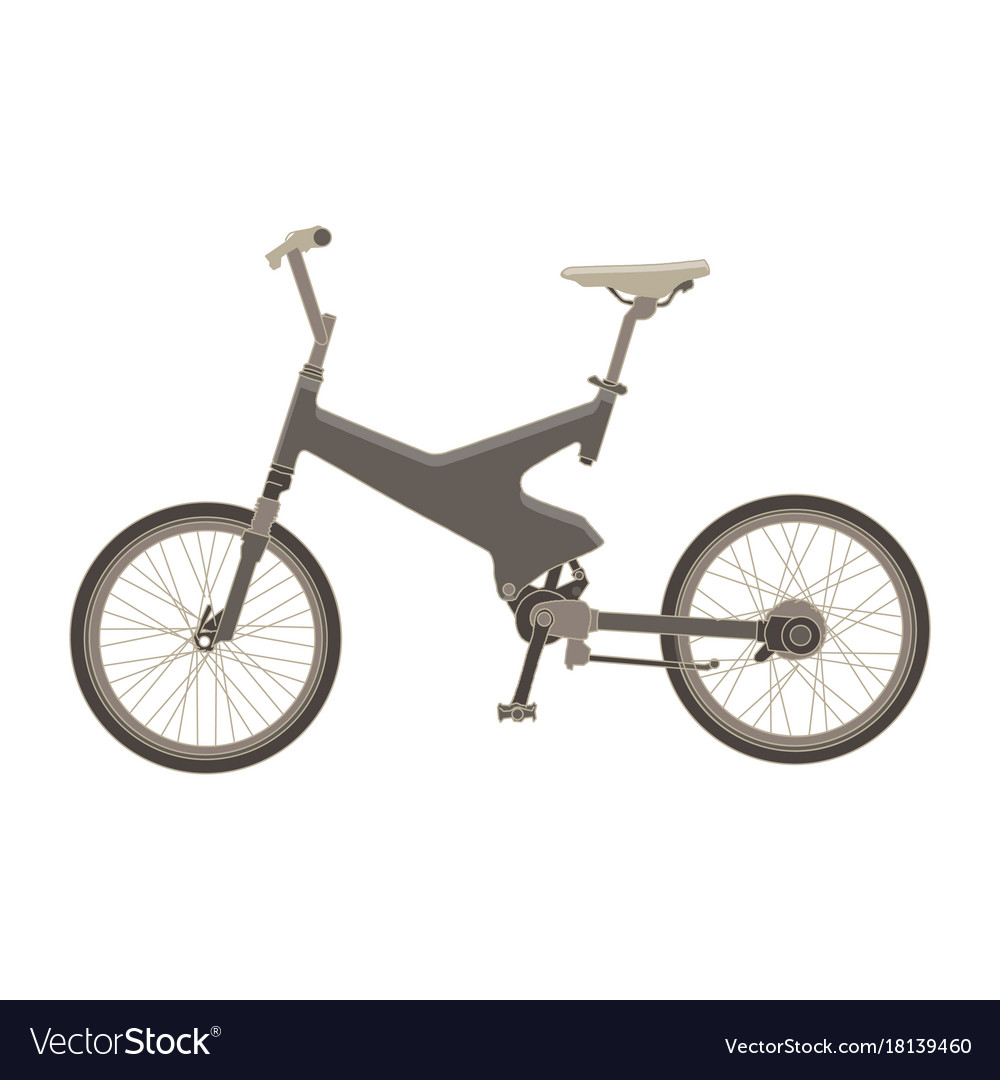 mountain bike sport bicycle template on white vector image