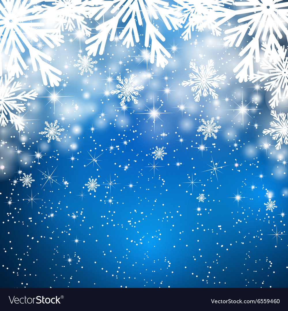 Snowflakes background with falling snow
