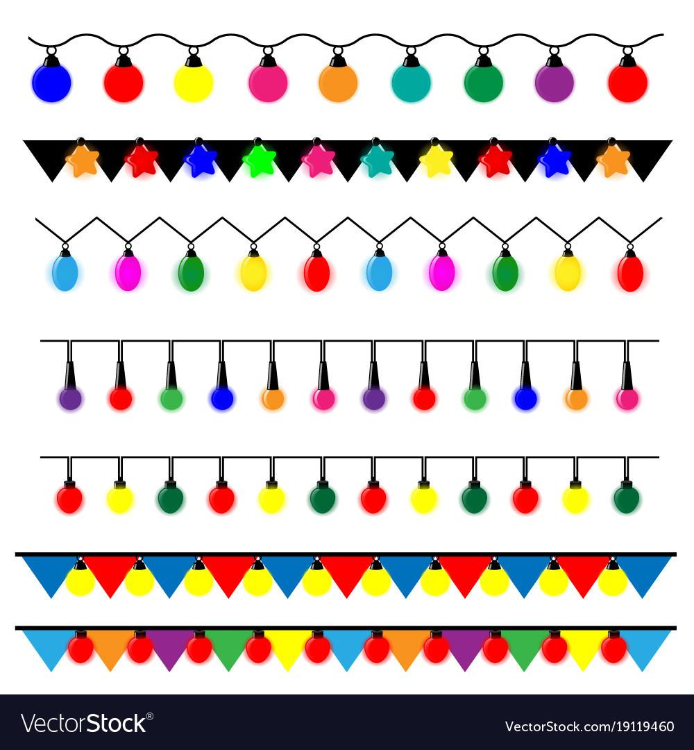 Christmas Lights Vector Free.String Of Christmas Lights