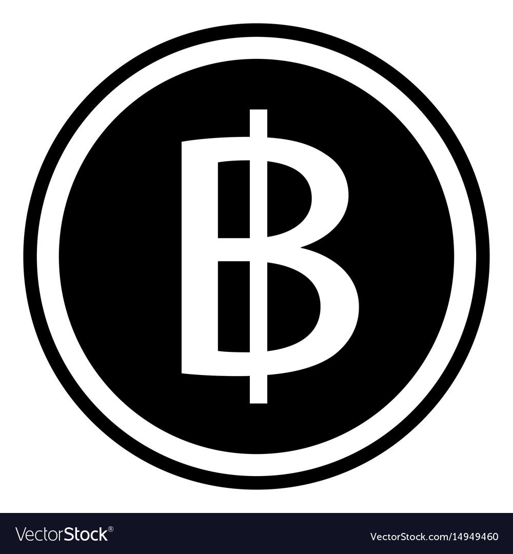Thai Baht Sign Currency Thailand Baht Coin Vector Image