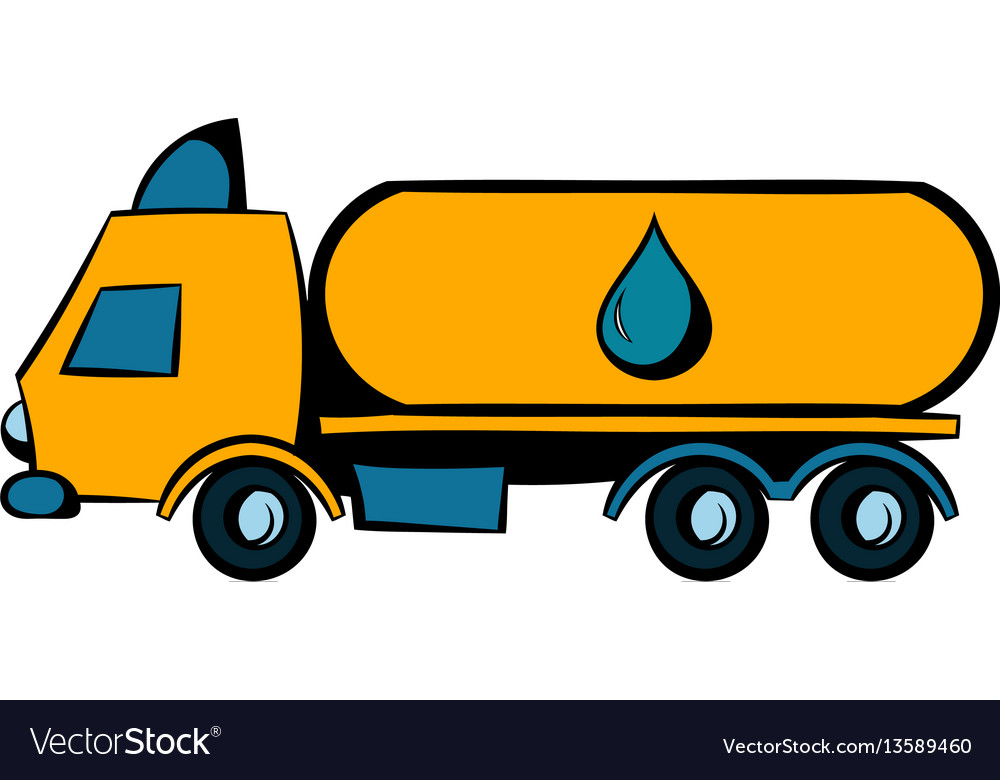 Truck with fuel tank icon icon cartoon