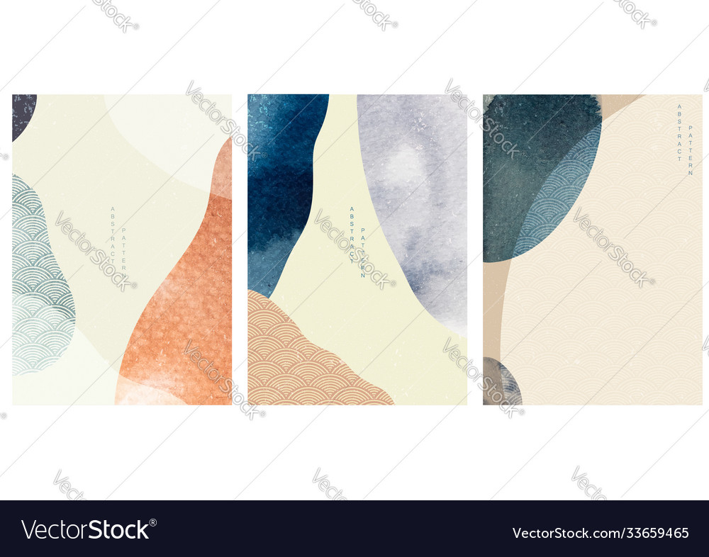 Abstract background with watercolor texture