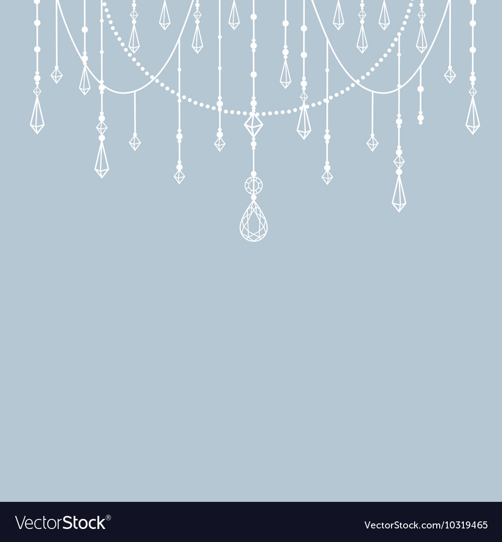Background with beads and crystals vector image