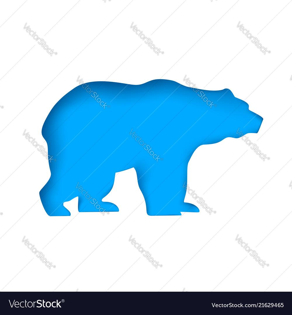 Bear cut paper animal