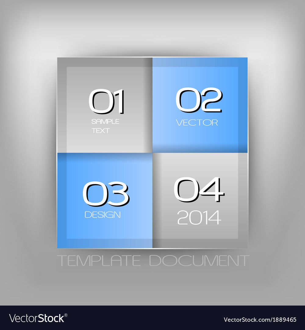 Business four squares blue with text