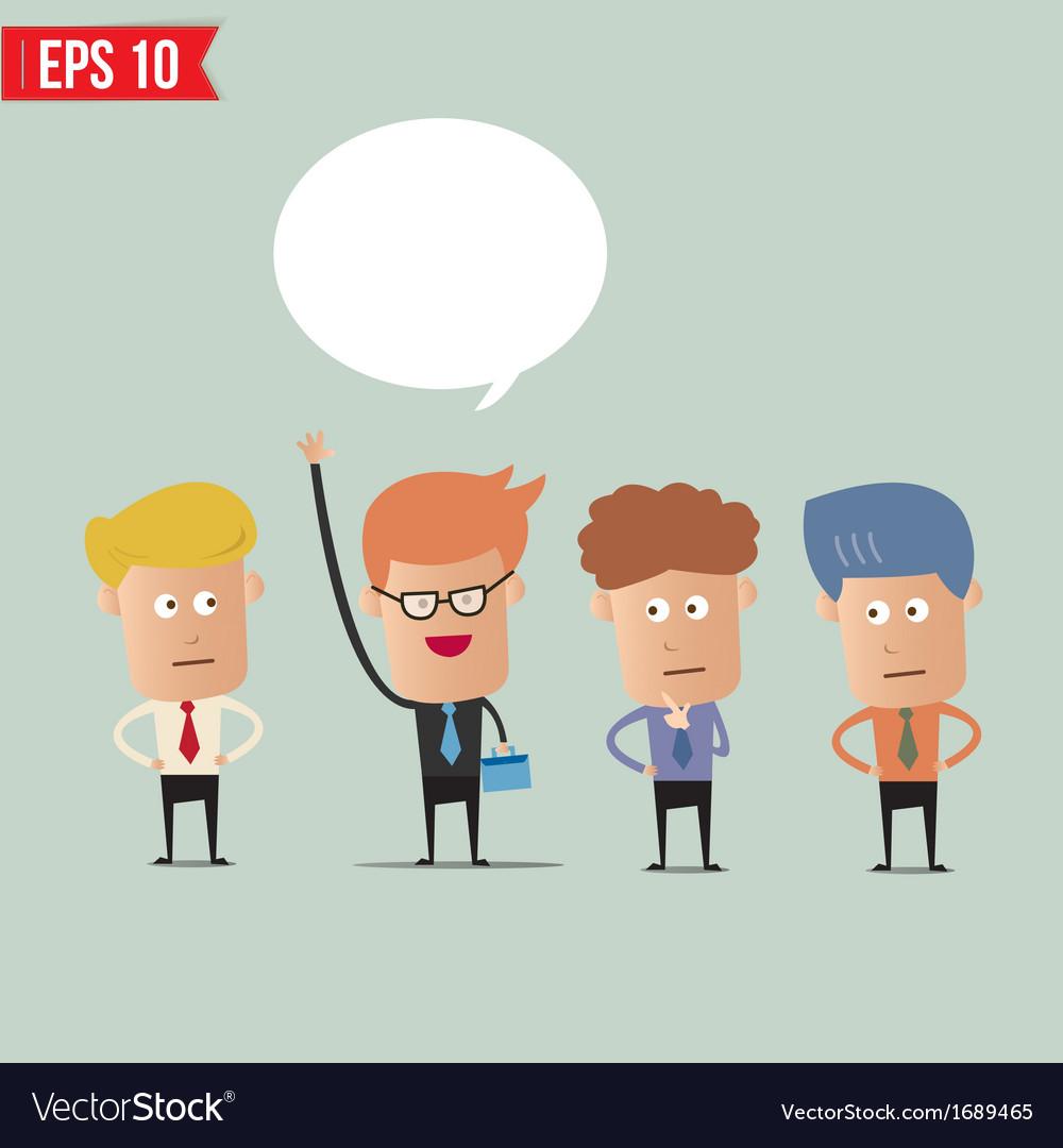 Business man raise hand - - EPS10 vector image