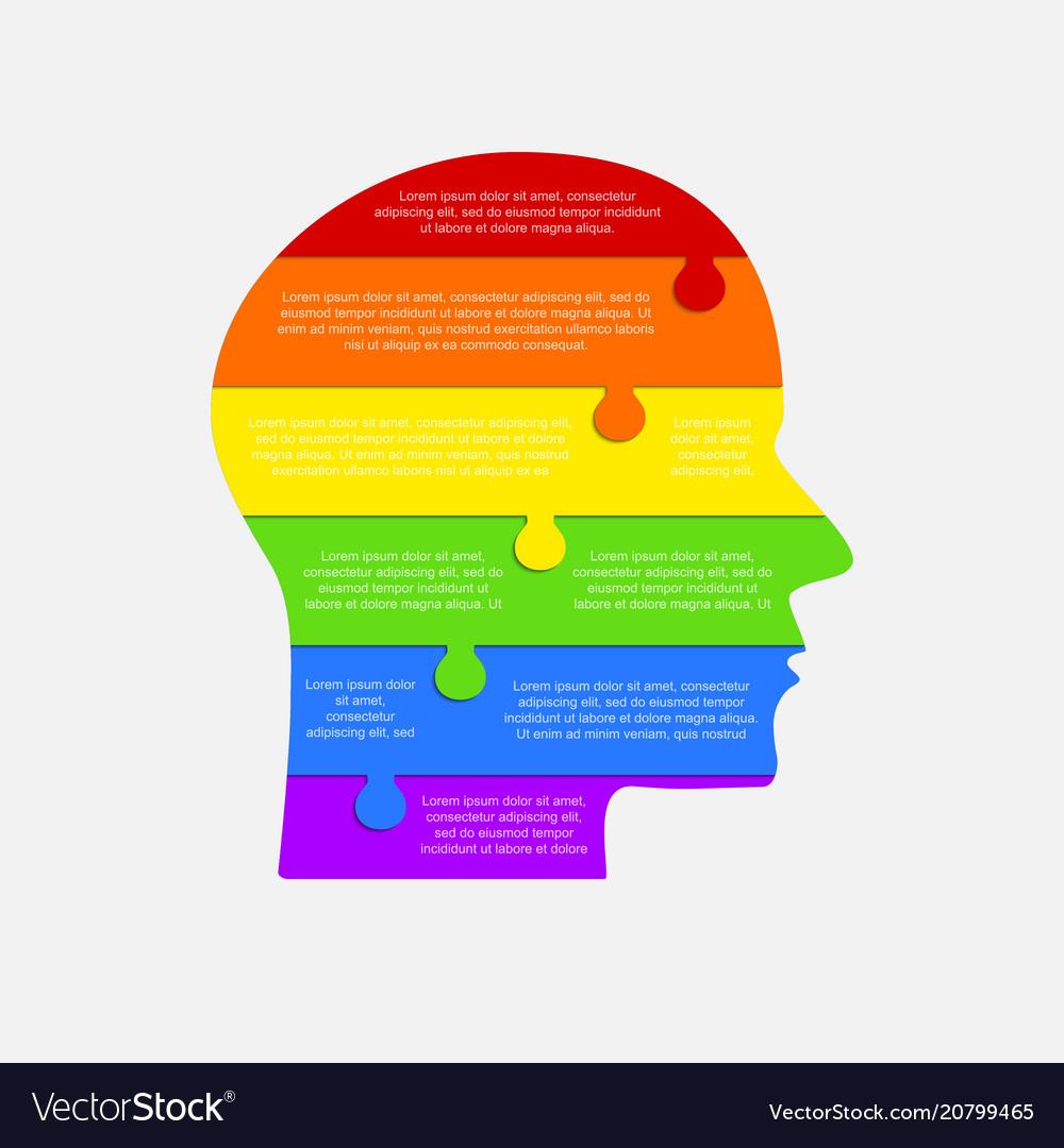 Infographic lgbt head lgbt puzzle symbol
