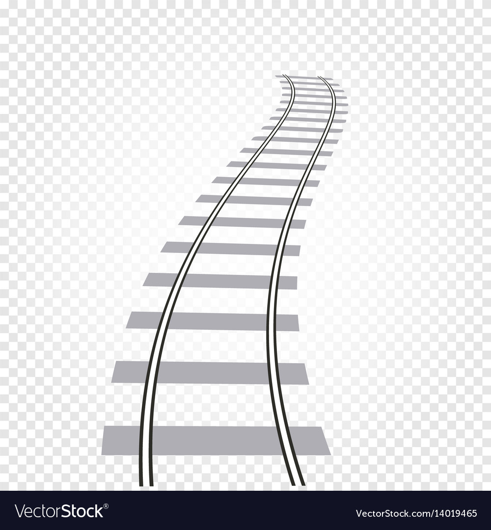 Isolated abstract grey color railway road on