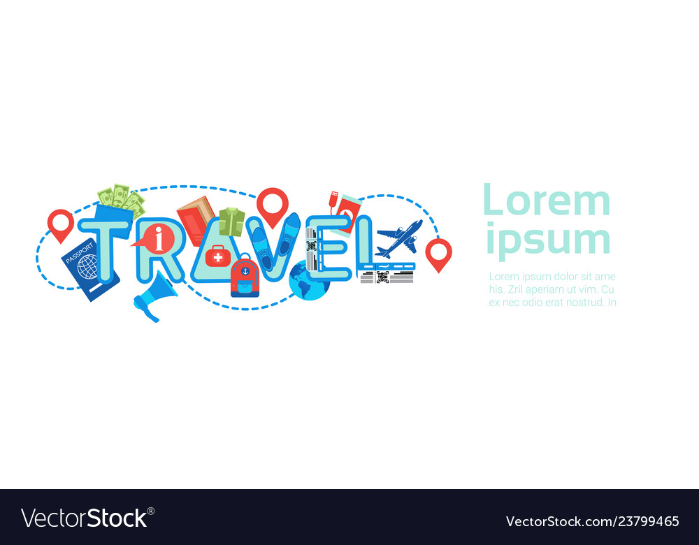 Planning travel horizontal banner template
