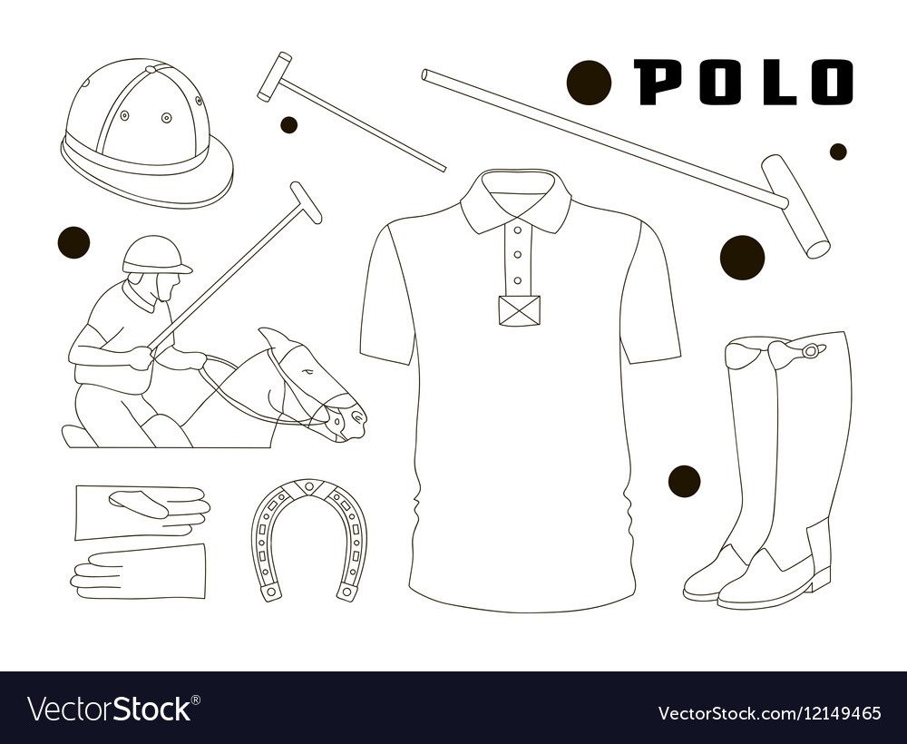 Polo objects Sport uniform vector image