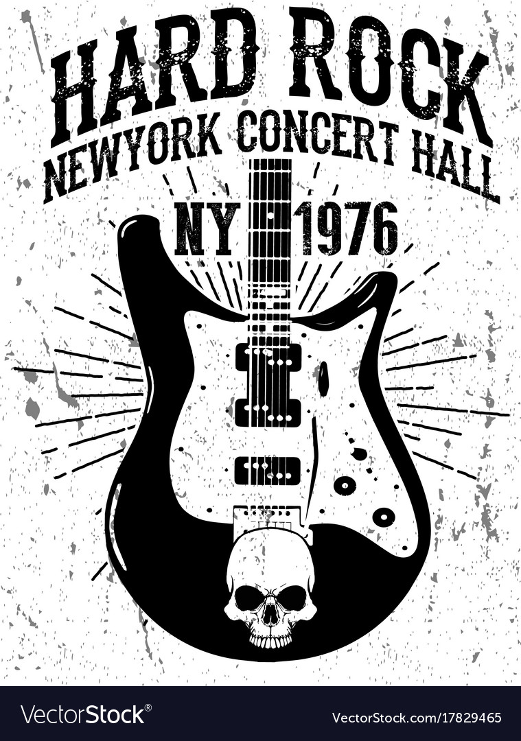 Rock poster vintage rock and roll typographic for