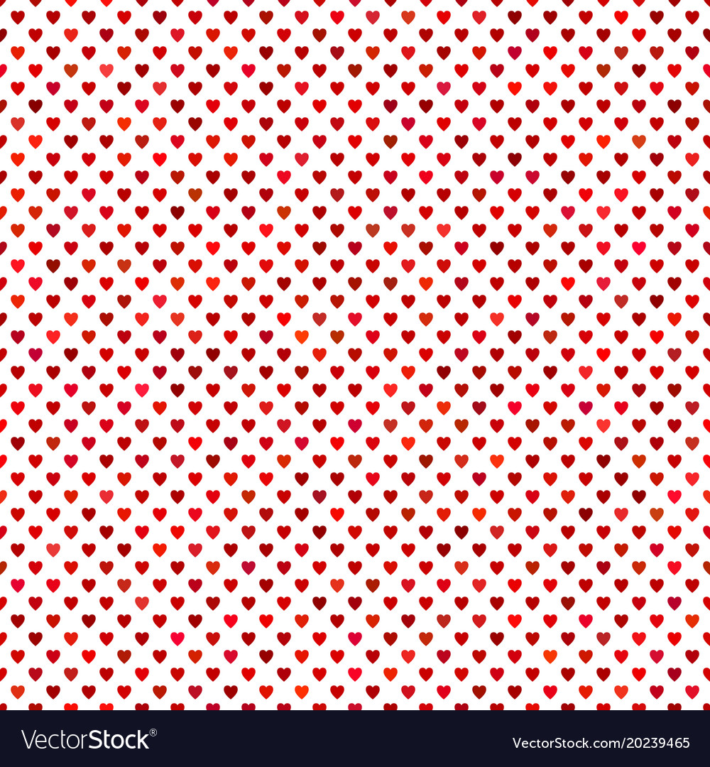Seamless red heart background pattern vector image