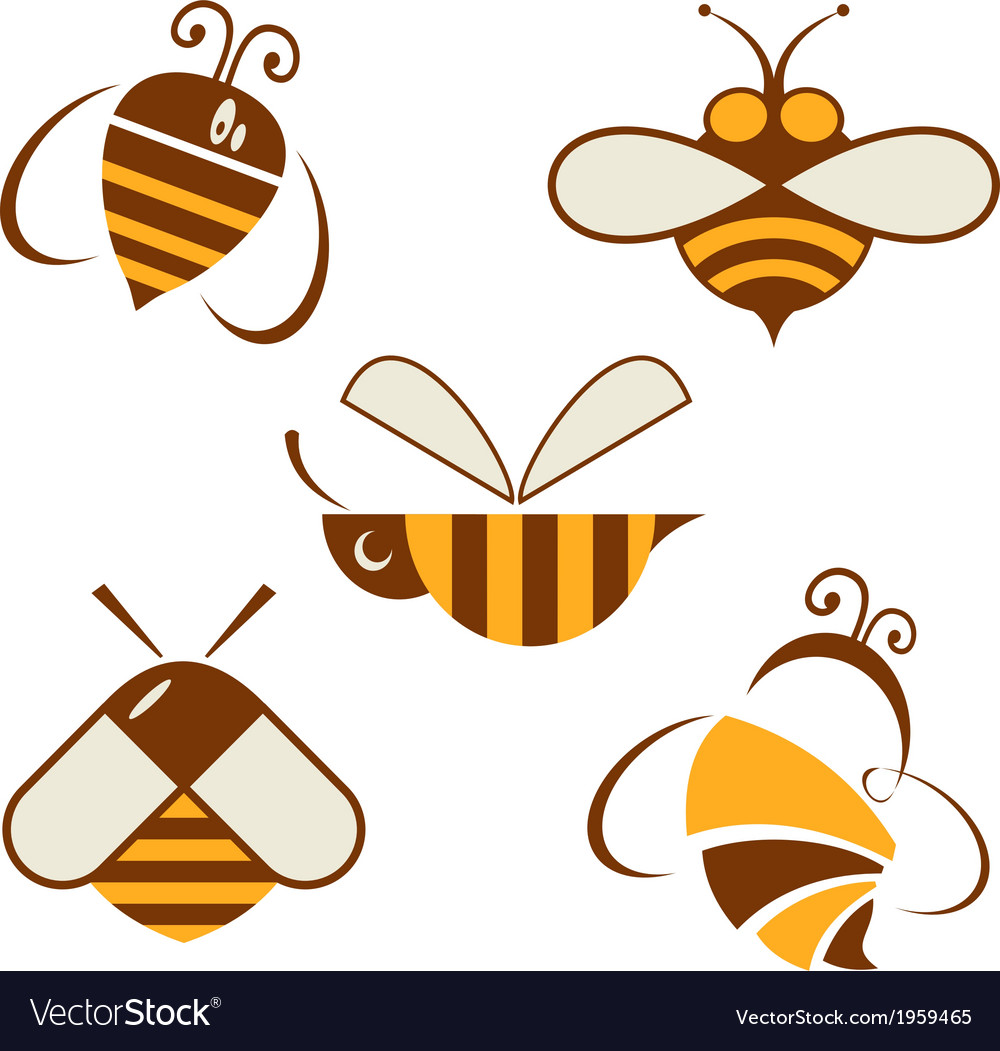 Set of signs bee