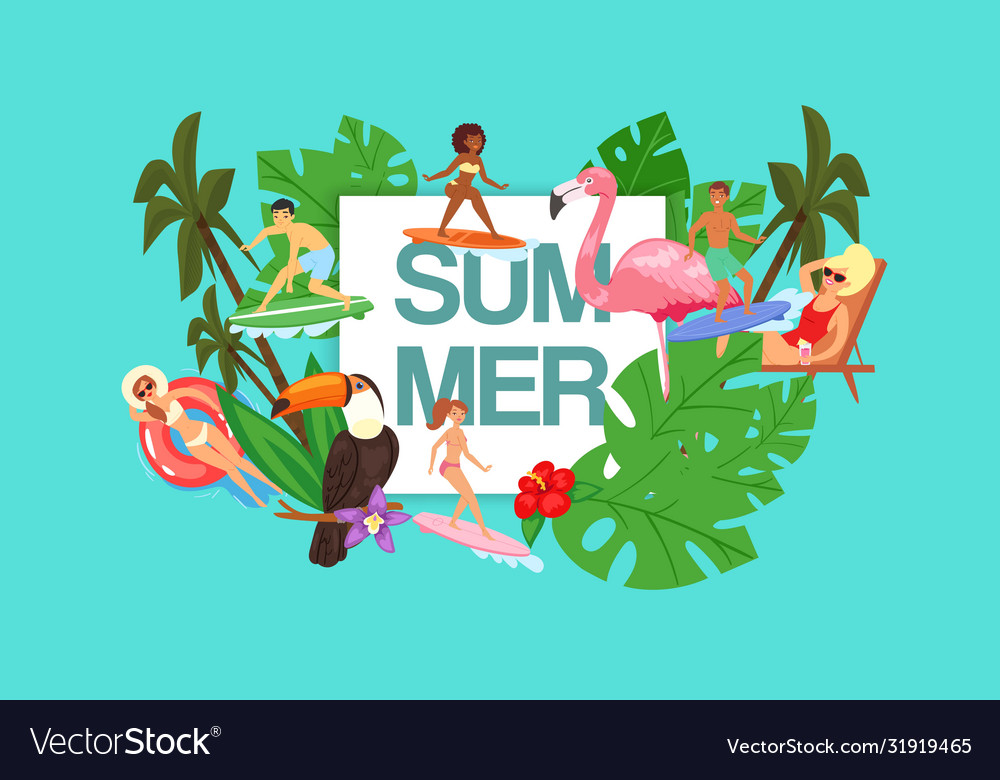 Text summer tropical background for advertising