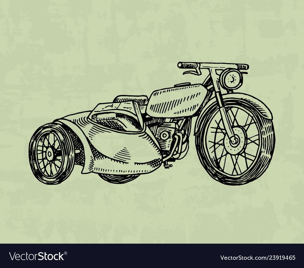 Vintage motorcycle retro bicycle extreme biker