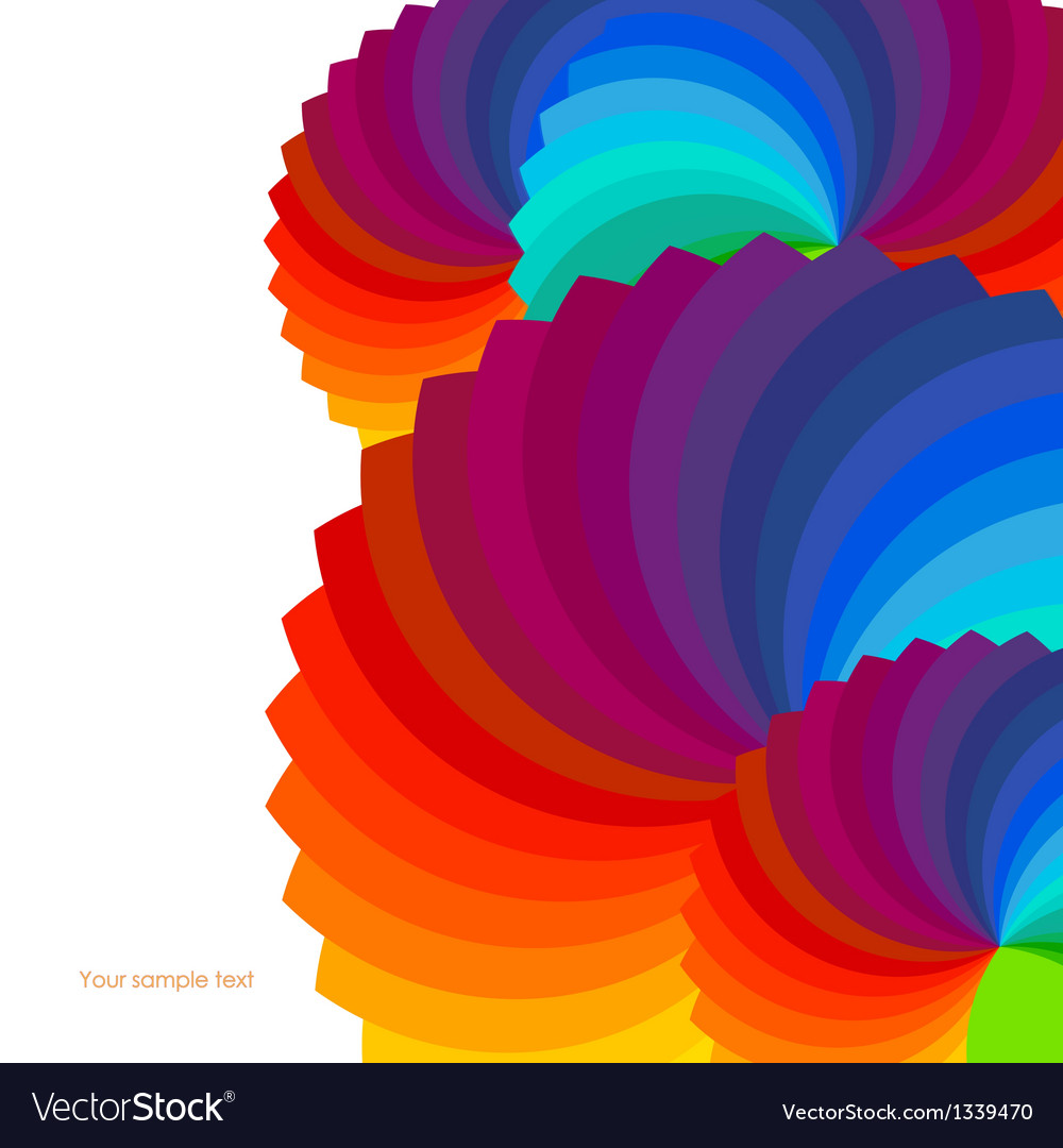 Abstract background with spectrum wheels