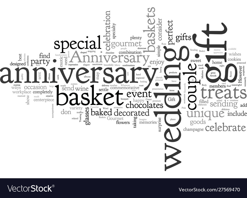 Anniversary gift baskets vector