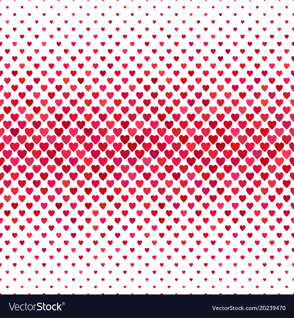 Red heart pattern background - love concept