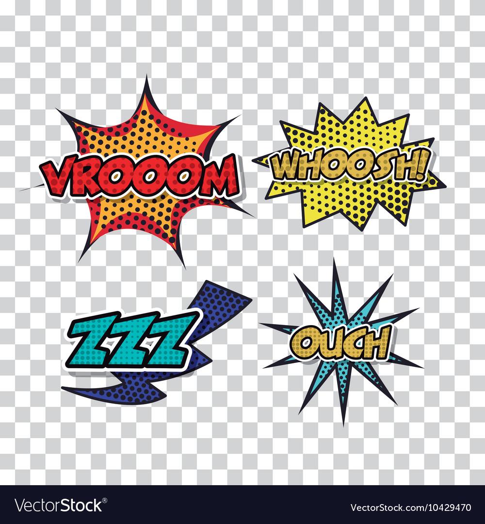 Set pop art style icons