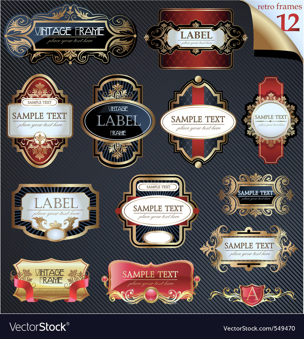 Vector frames and labels