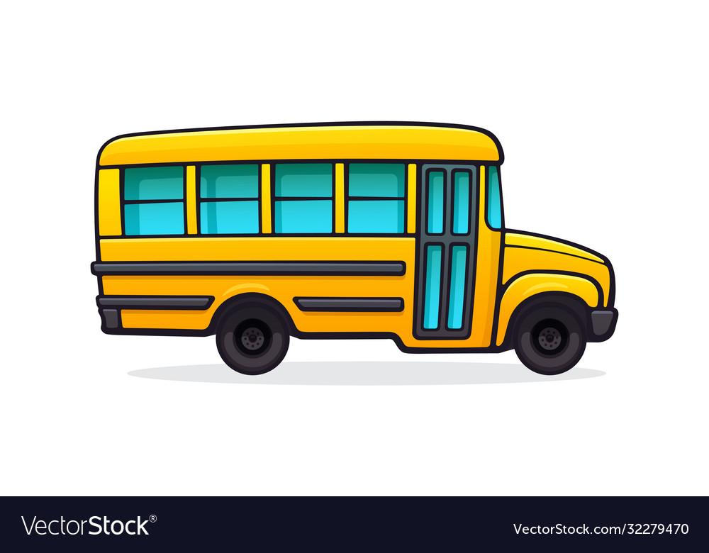 Yellow school bus for school