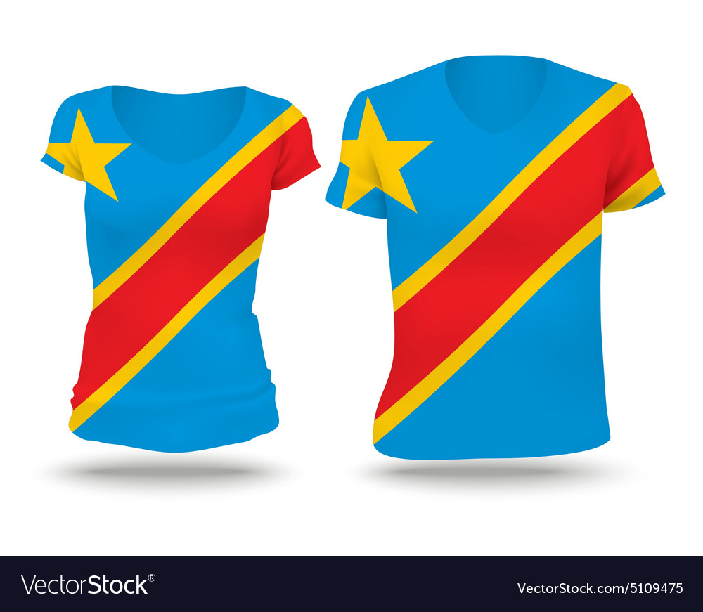 Flag shirt design of Congo DRC vector image