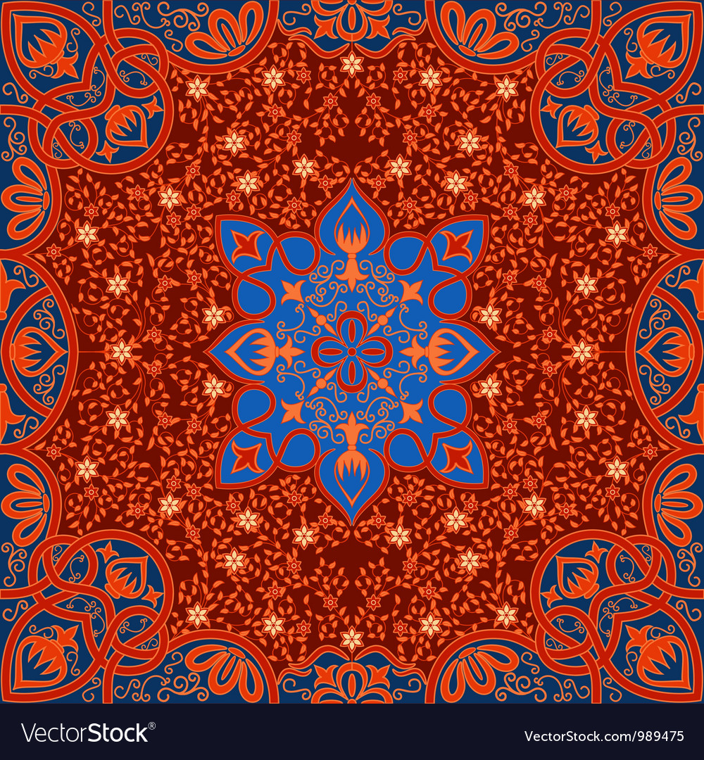 Floral arabesque ornament