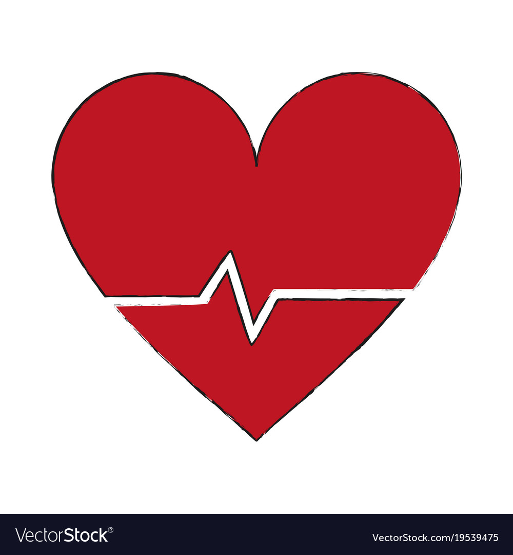 Heartbeat Medical Symbol Royalty Free Vector Image