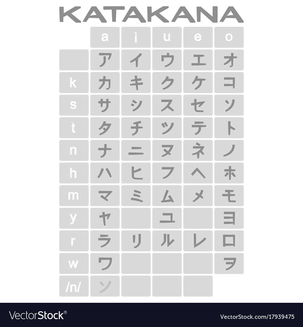 Set of monochrome icons with japanese alphabet vector image thecheapjerseys