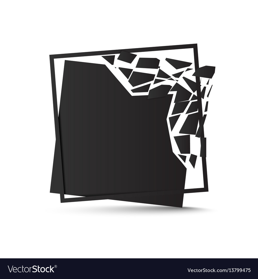Shattered black square background