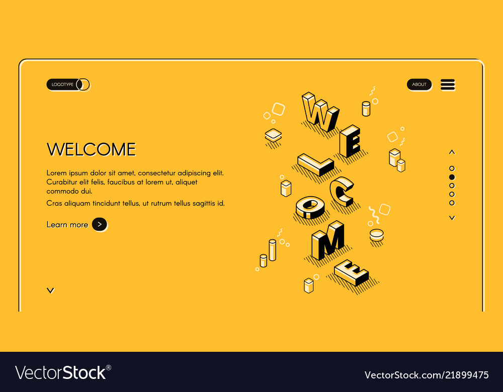 Welcome web page isometric