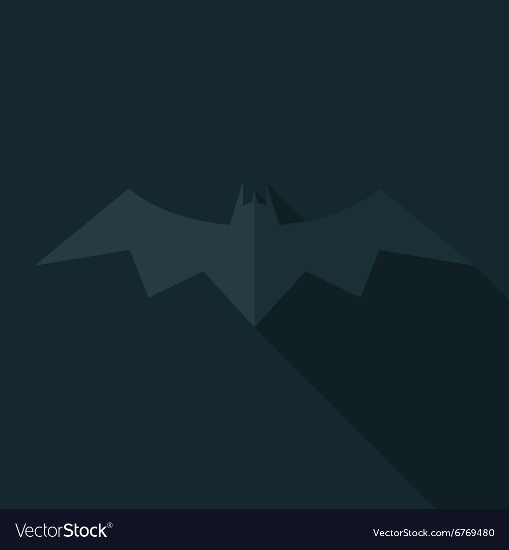 Abstract bat bird icon with three horns on a dark
