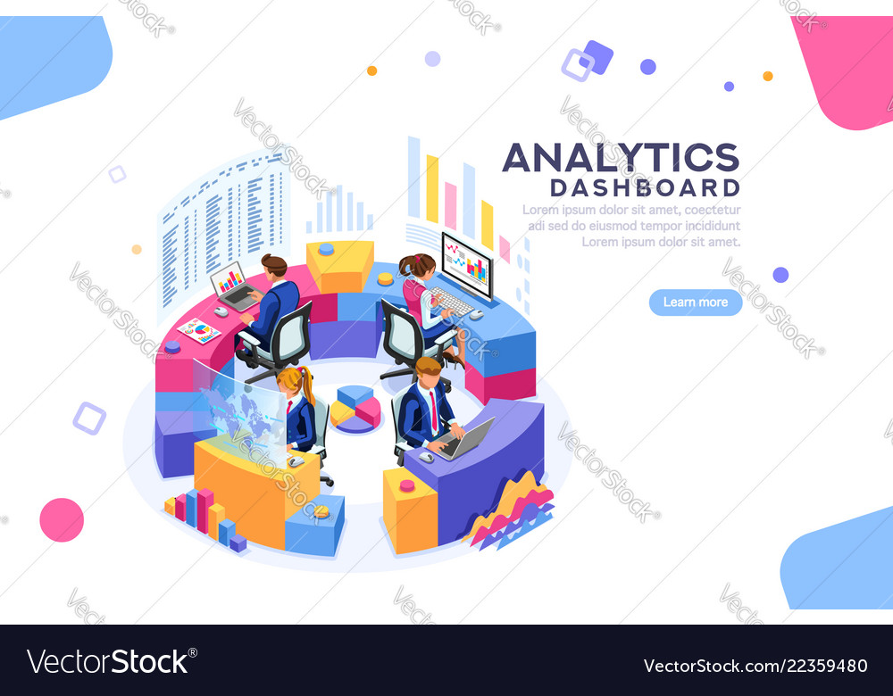 Analytics dashboard template banner
