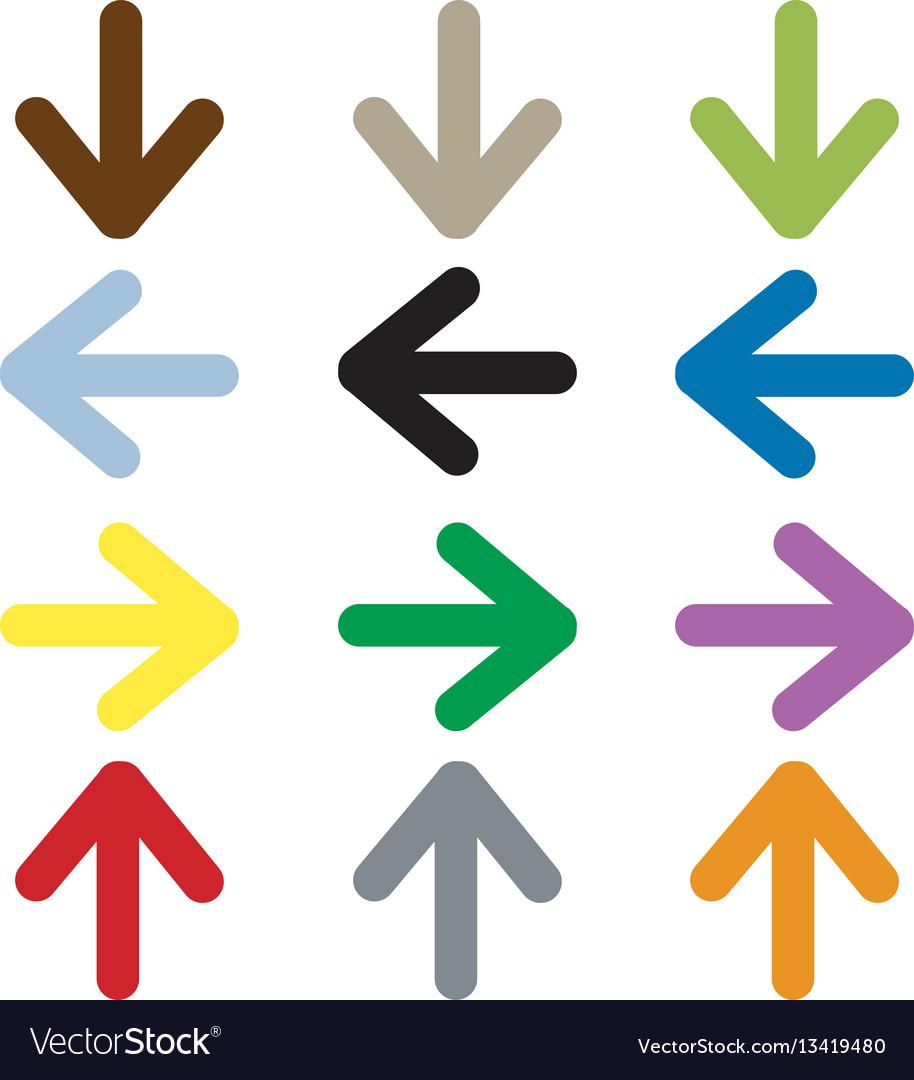 Arrow icon on white background vector image
